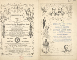Advert for Maskelyne and Cooke, Royal Illusionists and Antispiritualists